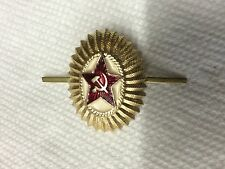 USSR Soviet Infantry Officer Hat Metal Pin Badge