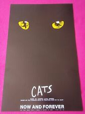 CATS Now & Forever by Andrew Lloyd Webber Classic Show Original THEATRE Poster
