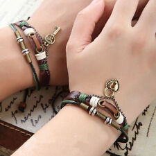2 PCS His & Hers Lock and Key Couples Bracelet Lovers Braclet Friendship Newest