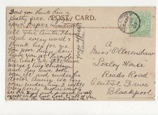 Miss A Ollerenshaw Loxley House Reads Road Central Drive Blackpool 1905 302a