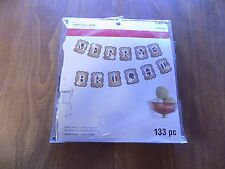 """NIP RECOLLECTIONS """"Merry & Bright"""" Christmas Banner Kit 133 Pc. Makes 8' Banner"""