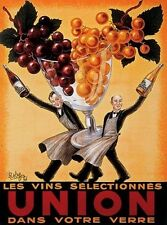 Union Wine Waiters Bar Liquor by Robys. Vintage Poster Reproduction (16 x 20)