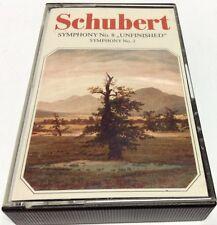 FRANZ SCHUBERT Tape Cassette SYMPHONY #8 UNFINISHED,SYMPHONY #3 Viola 30021