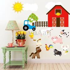 Duck Sheep Dog Pig Farm Animals Cartoon Wall Sticker Art Decal Kids Room Decor