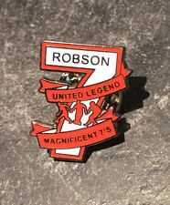 BRYAN ROBSON FOOTBALL ENAMEL PIN BADGE - THE MAGNIFICENT 7 -  1 OF 5 TO COLLECT