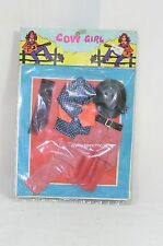 Barbie sized clone fashion cow girl cowboy set with red trousers NRFB