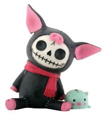 NEW Furrybones Furry Bones Black Bacon Piggy Bank Skeleton Figurine Gift 8210