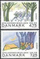 Denmark 2007 Europa/Scouting 100th/Scouts/Youth/People/Camp 2v set (n42650)