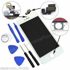 White LCD Screen Replacement Digitizer Glass Assembly For iPhone 5 with tools