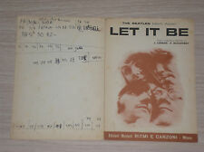 THE BEATLES - LET IT BE - SPARTITO /SHEET MUSIC ITALY