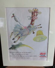 Vintage Jell-O Poster / AD from 1956 matted 13X16 frame