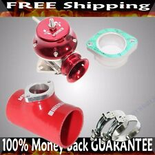 "RED ADJ Type RS Blow off Valve+ 2.5""  Silicone Type S Adapter+SS Clamps COMBO"