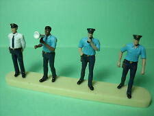 4  FIGURINES   SET 120  POLICIERS   VROOM  1/43   A  PEINDRE