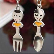 Cute Fork Keyring KeyChain Key Chain Yummy Couple Gift Lover Keyfob Spoon