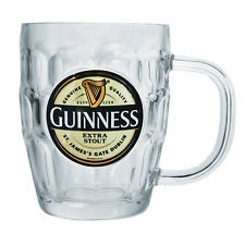 Guinness Label Pint Tankard Glass
