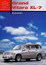 Prospekt 2003 Suzuki Grand Vitara XL 7 Zubehör 8 03 brochure Auto Pkw Japan