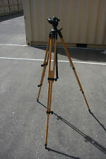 Berlebach REPORT 8823 3 Sec. Wooden Tripod w/Center Column and Bogen head 3437