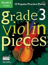 Grado 3 pezzi VIOLINO imparare a giocare POP VIOLINO MUSICA Exam BOOK & Download Card