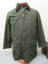 Barbour Waxed Cotton Border Jacket with Warm Pile Lining Size C 38 97 CM