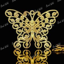 15 Brass Animal Butterfly Filigree Charm Pendant MB0587