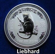 1$ Silber / Silver Australien Lunar I Affe / Year of the Monkey 2004 1 OZ