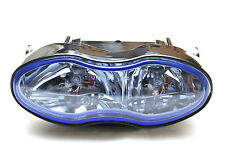 Universal Streetfighter Twin Bulb Motorcycle Headlight Blue Lens Cafe Racer 55w