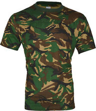 E1 MENS MILITARY CAMOUFLAGE T SHIRT CAMO ARMY COMBAT NEW S-2XL