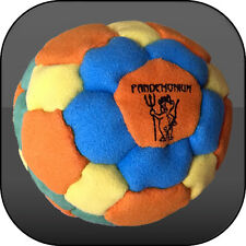 NEON FLUX FOOTBAG, 42 panels, SAND & IRON filled hacky sack, aki, freestyle
