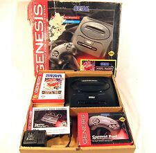 Sega Genesis Video Game Console System In Box Black NFL 95 Version COMPLETE