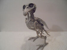 "7"" Poseable Crow Fossil Skeleton Prop Halloween Decoration Fake Raven Parrot"
