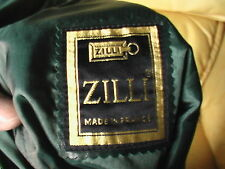 ZILLI made in France - jupe en cuir d'agneau - Leather Skirt -  Leder Rock T40