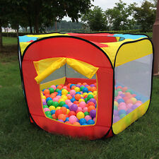 New Kids Play House Indoor Outdoor Easy Folding Ball Pit Hideaway Tent Play Hut