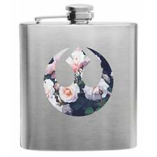 Floral Republic Seal Stainless Steel Hip Flask 6oz Star Wars Jedi Nerdy Gift