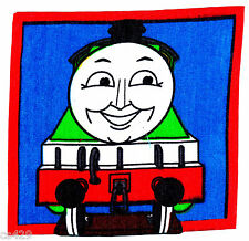"""6"""" THOMAS THE TRAIN TANK HENRY  CHARACTER  FABRIC APPLIQUE IRON ON"""