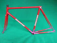 Bridgestone Red Pink Fade  NJS Approved Keirin Frame Track Bike Fixed Gear