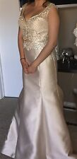 Champagne dress/ prom dress-two piece formal gown