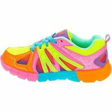 Girls 1 Rainbow Pink Danskin Now Bright Mesh Tennis Shoes Sneaker Lightweight