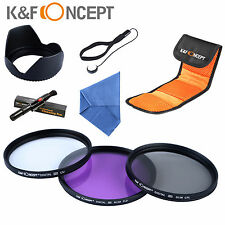 77mm UV CPL FLD Filter Set Kit Lens Hood Pen For Canon 24-105 IS Nikon Sony DSLR