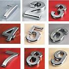 ABS Modern House Numbers Letterbox Door Digits Numeral Plate Plaque Sign Silver