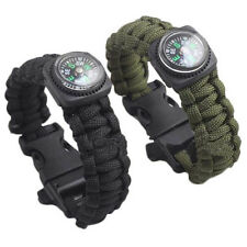 Outdoor Self-rescue Parachute Cord Bracelets Compass Survival Camping Travel Kit