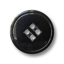 5 günstige maskuline schwarze Vierloch Kunststoff Knöpfe (1148sc-20mm)