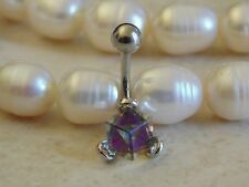 Square Crystal Navel/Belly Ring.