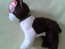 TY BEANIE BABIE RARE  SPORT BROWN WHITE DOG WITH TAG FREE PP