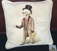 Bethany Lowe Halloween Vintage Doctor Skeleton Throw Pillow
