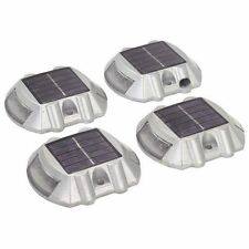 NEW 4 Pack Solar LED Pathway Driveway Lights Dock Path Step Road Safety Markers