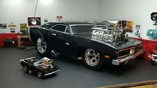 PAIR R/C MUSCLE MACHINES RARE 69 HEMI CHARGER black 1:16 1:64  REMOTE CONTROL RC