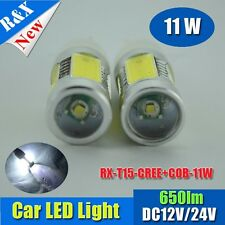 2x T10 T15 921 11W Lens Cree Q5 High Power Car Signal Tail White LED Light Bulb