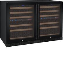 Allavino 112 Bottle Built-In Wine Cooler Refrigerator Black Glass Door Four Zone