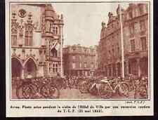 1933  --  ARRAS  EXCURSION CYCLISTE ENVAHISSANTE C211