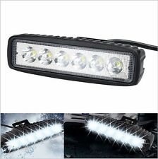 12V LED Bar 18W Flood Spot Work Light  Fog Lamp Off Road Boat Truck ATV 4x4 LED